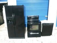 Black Refrigerator Electric Stove And Dishwasher Killeen, 76549