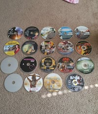 19 pcs: ps3 games, Xbox game, dvd movies, cd case