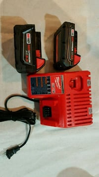 New Milwaukee M18 batteries and dual charger Toronto, M6G 3B3