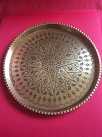 Persian (Iranian) Copper Tray WHITEPLAINS