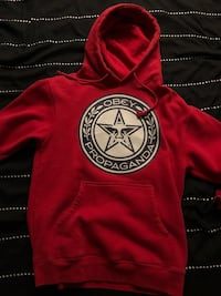red and black pullover hoodie Vancouver, V5R 3Y1