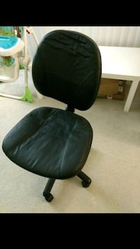Black leather office chair Seven Corners, 22044