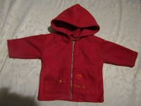 red zip-up hoodie London