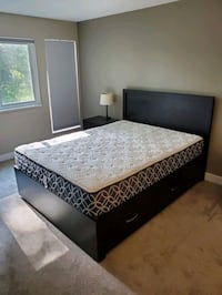 EUC Solid Wood Queen Bed.  Made in Canada. Port Moody, V3H 3S6