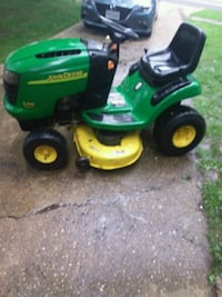green and yellow John Deere ride on lawn mower Springfield, 22151