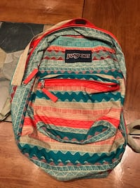 red, blue, and white Jansport backpack Sterling Heights, 48313