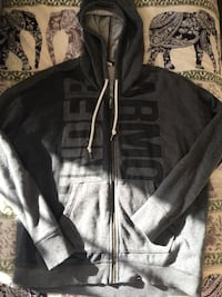 Gray zip-up UA hoodie, size 10-12, great condition Ellesmere Port, CH65