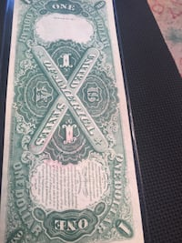 1917 $1  large size legal tender note.