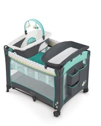 baby's black and green travel cot Lancaster, 93535