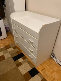 Big white dresser of changing table