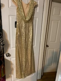 Gold sequin Bridesmaid dress NWT