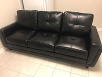 Black Faux Leather 3-seat sofa Toronto, M6B 2V1