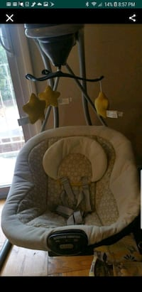 baby's gray and white cradle and swing Falls Church, 22043