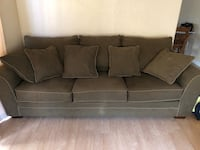 Green fabric couch and love seat 2410 mi