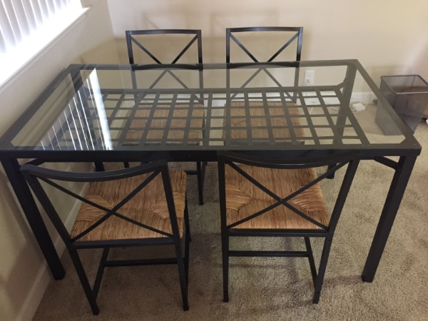 Reduced Price Ikea Granas Table 4 Chairs