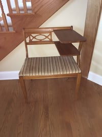 brown wooden chair with table Arlington Heights, 60005