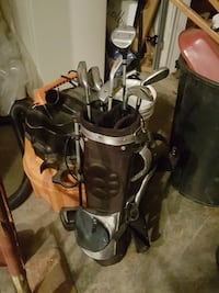 brown and black golf bag with golf club set Germantown, 20874