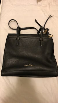 Salvatore Ferragamo black leather calfskin large tote handbag  Toronto