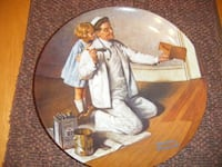 6pcs Norman Rockwell plates