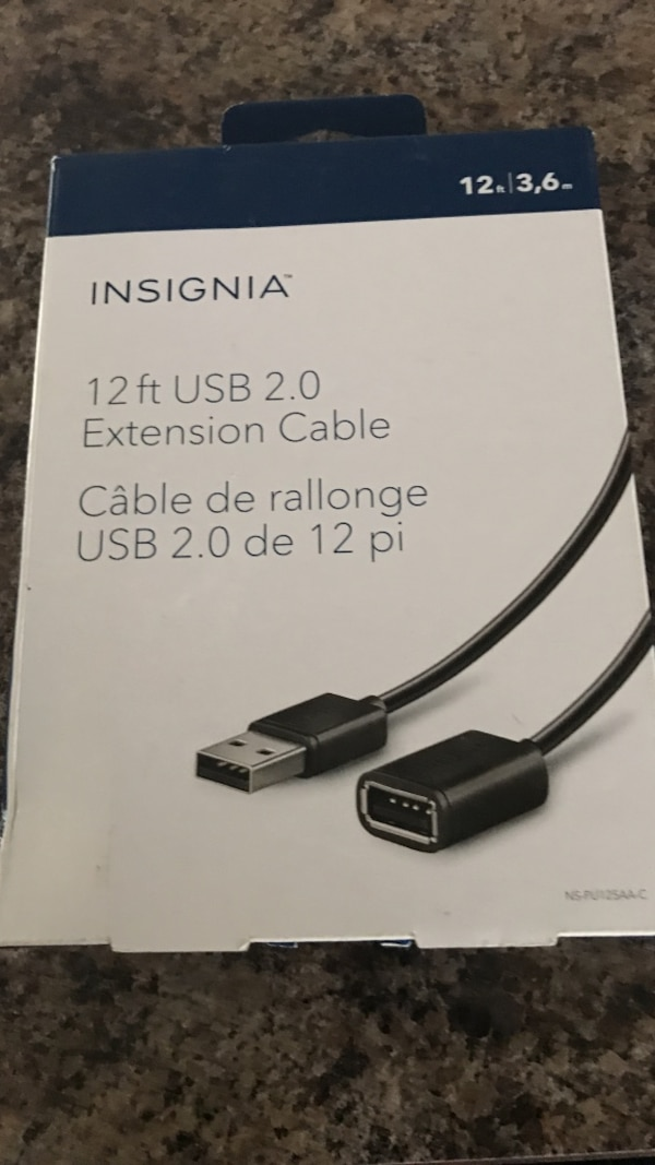 black Insignia extension cable box