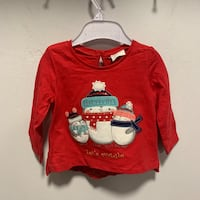 Baby girls red Christmas jumper size 3-6 months new  Birmingham, B42 1TA