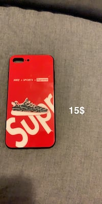 Red supreme iPhone 8 Plus case Port Coquitlam, V3C 3H6