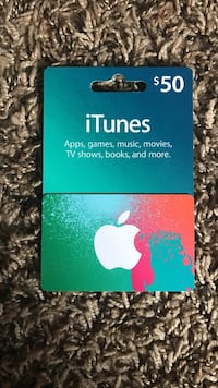 used 50 dollar itunes card for sale in saint cloud letgo. Black Bedroom Furniture Sets. Home Design Ideas