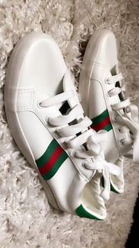 white-and-green Adidas low-top sneakers San Jose, 95112