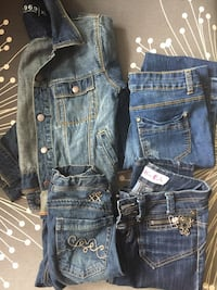 Lot of 4 size 12 kids jeans / denim pants and jacket Barrie, L4N 0J2