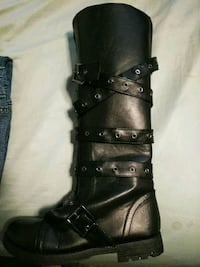 black leather knee-high boot Bardstown, 40004