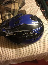 Blue and black KGA motocross helmet