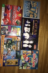 Kids board games like new-contact for  various prices