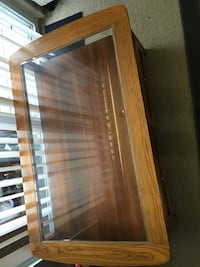 Glass top coffee table with drawers 13 km
