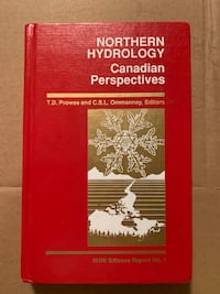 Northern Hydrology - Canadian Perspectives Book Toronto
