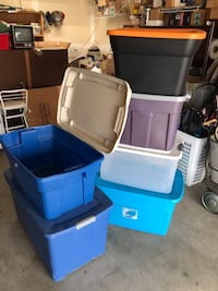 Six Larger Storage Bins