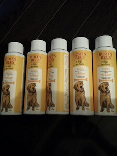 5  bottles Burts Bees for Dogs Oatmeal Shampoo