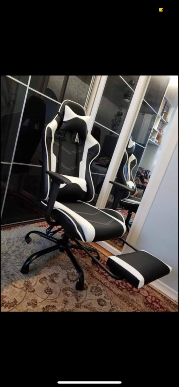 Massage Office Game Chair With Leg Rest Black/White Colors Brand New 9427ddf6-8a3c-4e99-820f-9e9752d50223
