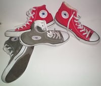 Converse Chuck Taylor All Star Bright Red Or Grey Shoes Size 12 London