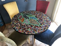 Custom designed bottle cap table with 4 chairs West Fargo, 58078