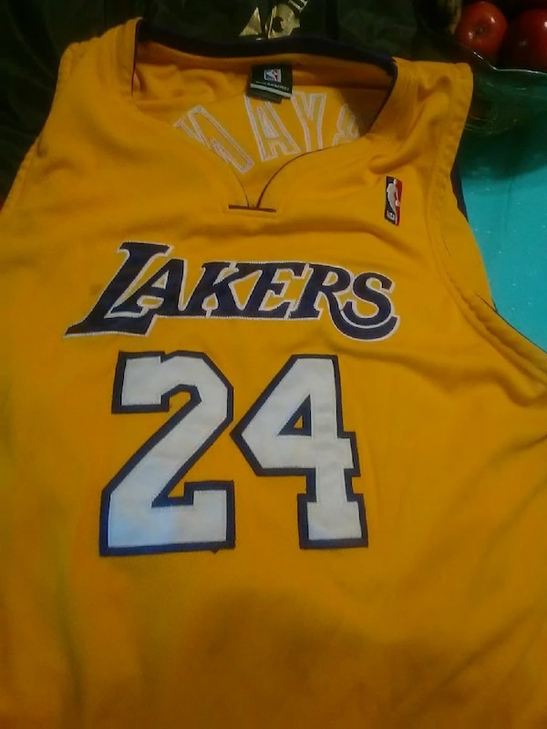 premium selection b2611 cf979 yellow and blue Los Angeles Lakers Kobe Bryant jersey