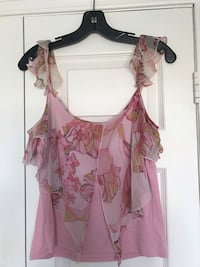Floral Top with Silk Accents