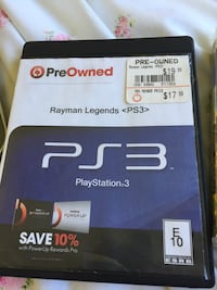 Rayman Legends PreOwned Sony PS3 game case