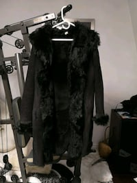 Sheep skin black coat