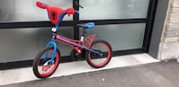 Toddler's red and blue bicycle Spider-Man  Vaughan, L6A 4X7