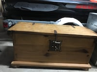 Solid wood chest 3ft x1.5ft minor stains on top Burlington, L7P 0K2
