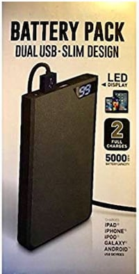 DUAL USB Slim Design Battery Pack - 5000 mA (2 charges) Jacksonville, 72076