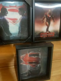 20 each bat man super man 3D picture in frame  Brampton, L6P