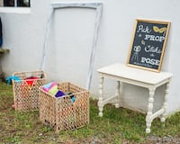 Hand painted rustic photo booth frame