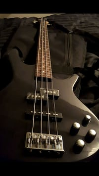 Ibanez Bass w Amp, Case, Strap & Patch Cord Included