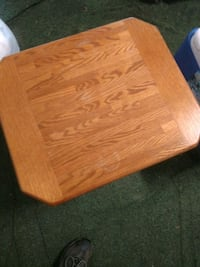 brown wooden table top with black metal base Abingdon, 24210